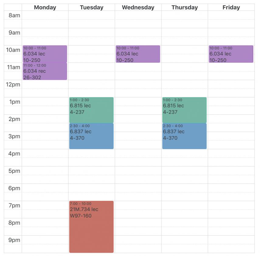 course schedule ist7100 1 1